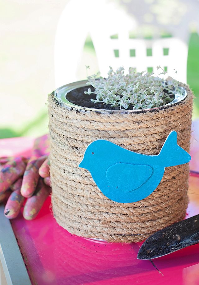 DIY Spring Rope Planter