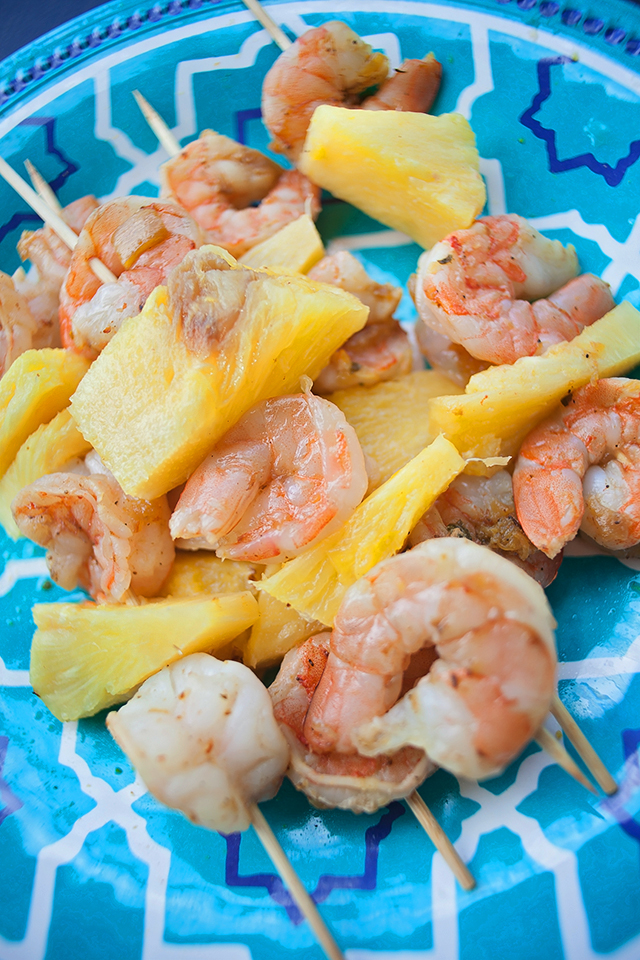 Pineapple Shrimp Kabobs with Hampton's Lane