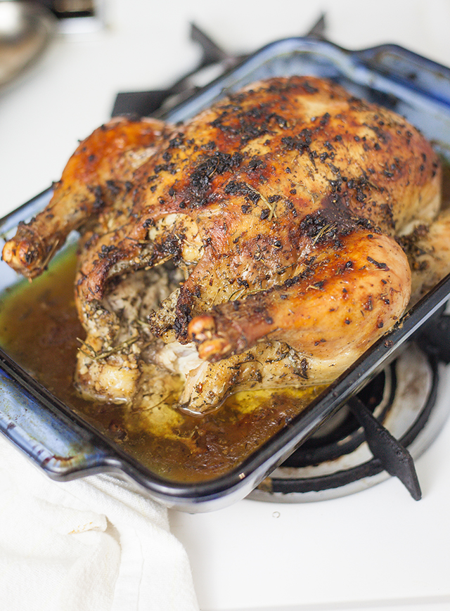 Garlic and Herb Oven Roasted Chicken