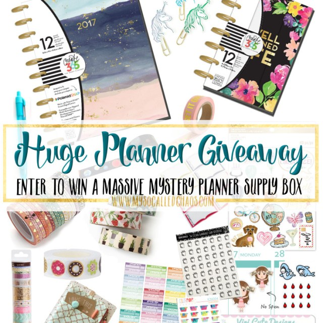 Huge Planner Giveaway! Ends 2/14