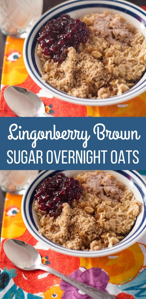 Lingonberry Brown Sugar Overnight Oats