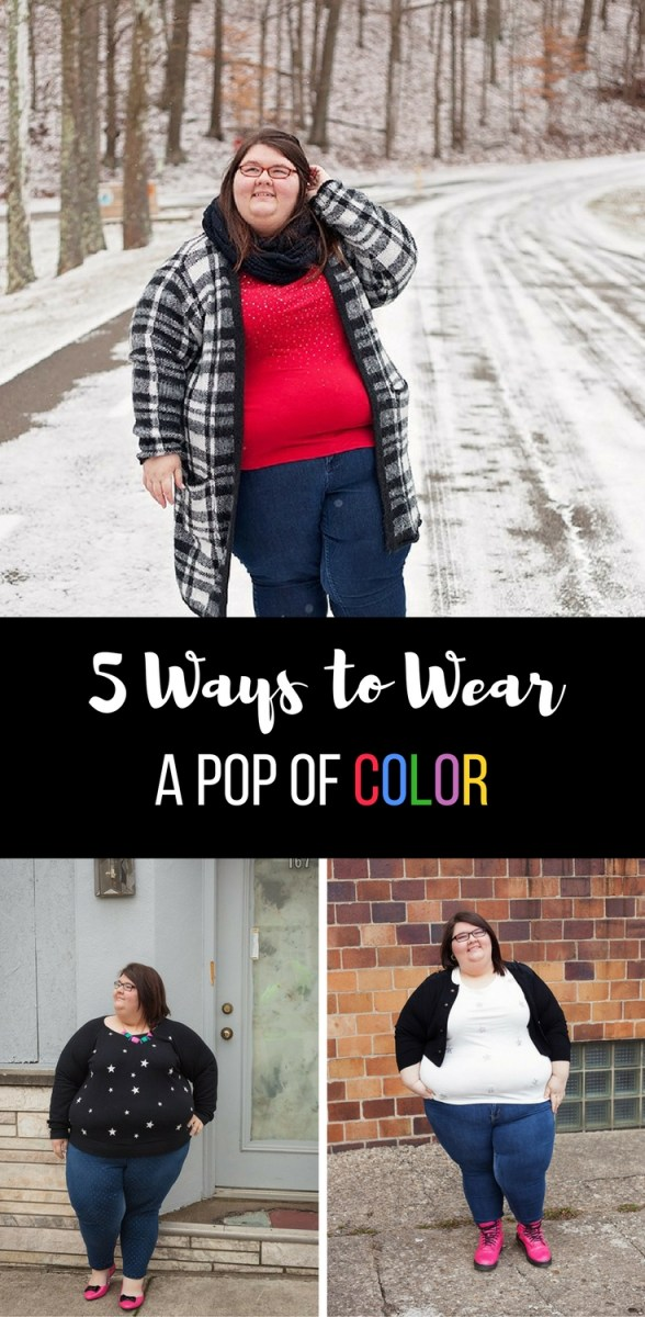 5 Ways to Wear A Pop of Color - Wearable Wednesday #29