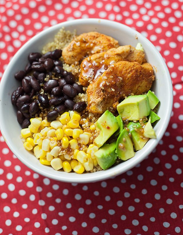 Honey BBQ Quinoa Bowl
