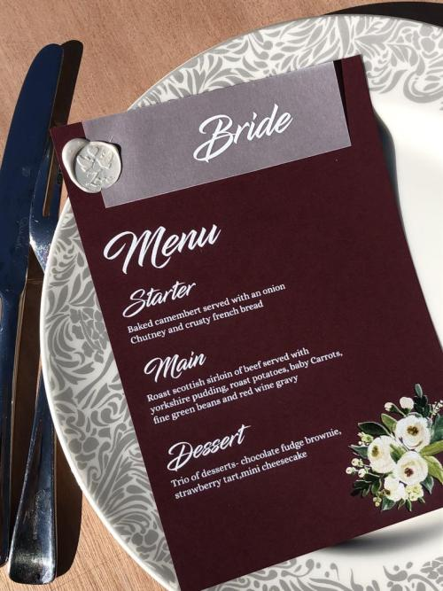 Menu & Place Name