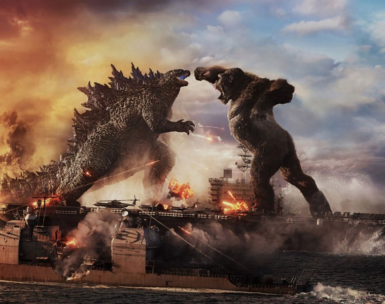 Cover image of Kong and Godzilla fighting