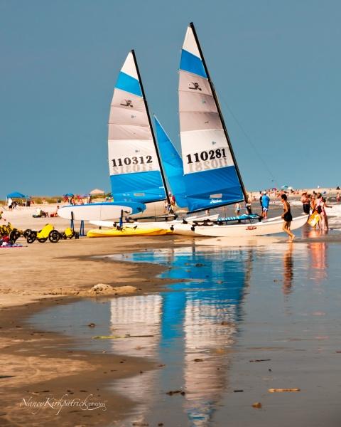 Sailboats on the Beach
