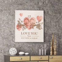 Personalized Love You Forever Canvas Customized Wall Art