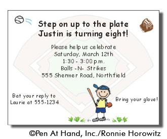 baseball theme personalized party