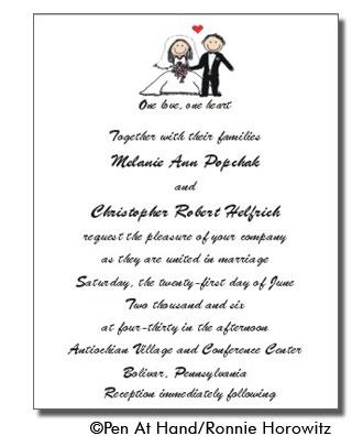 Wedding Invitation Wording Friends Card Ideas