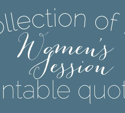 Women's Session Printable Quote Collection