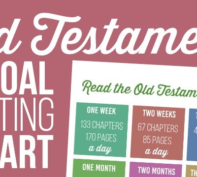 Old Testament Goal Setting Chart