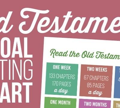 Old Testament Goal Setting Chart