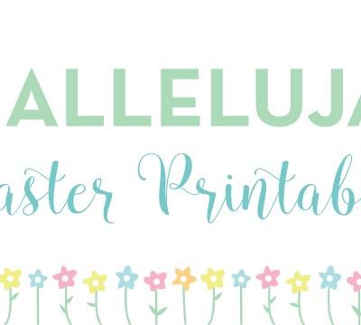 #Hallelujah Easter Printable Journaling Cards