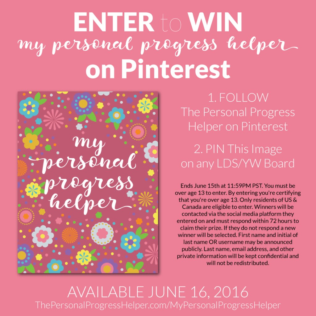 Enter to Win My Personal Progress Helper