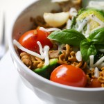 Light Rotini Pasta and Veggies