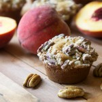 Peach Maple Pecan Muffins