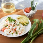 Smoked Salmon and Goat Cheese Egg White Scramble