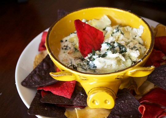 Healthy Baked Spinach and Artichoke Dip