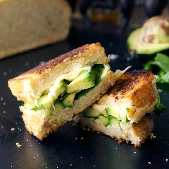 Wasabi Muenster Grilled Cheese Sandwich