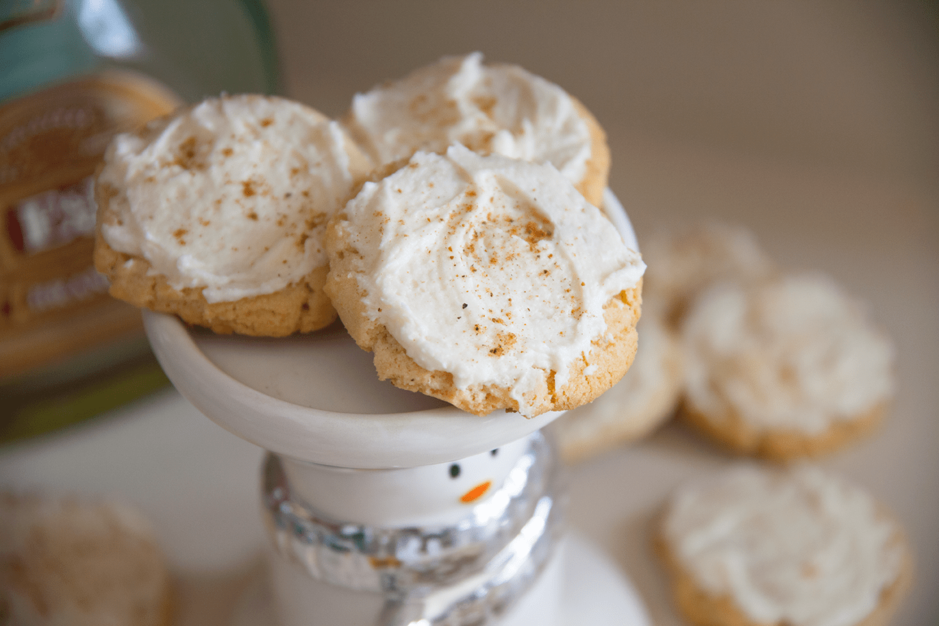 Brandy Spiked Eggnog Cookies