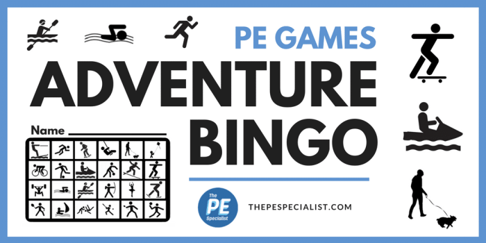 PE Games: Adventure Bingo
