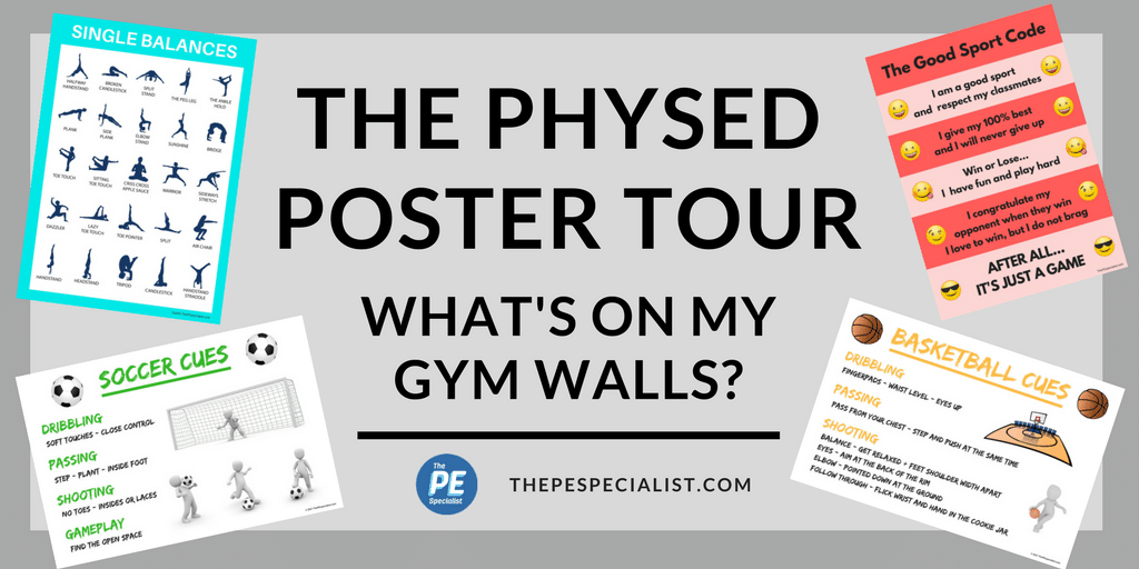 PE Poster Tour |What's on my Gym Walls|