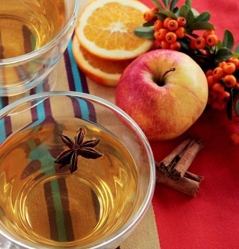 Homemade hot and spicy apple cider by The petite cook