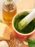 How to Make Italian Homemade Pesto sauce vegetarian recipe by the petite cook