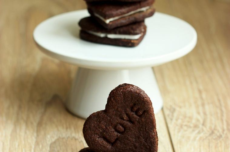 Homemade Oreo Love Cookies by The Petite Cook
