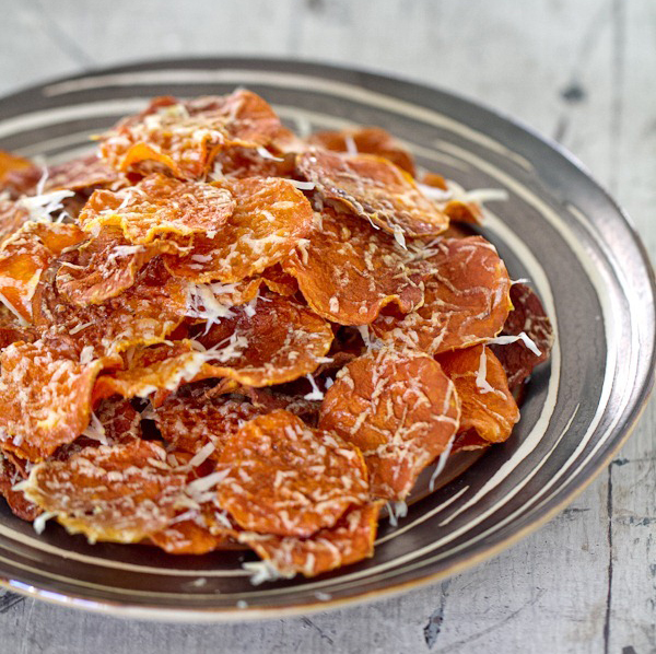 butternut squash chips - best alternatives to potato chips - thepetitecook.com