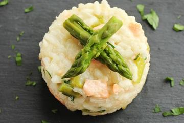 Salmon and Risotto Aspargus - Perfect for spring, quick italian recipe!