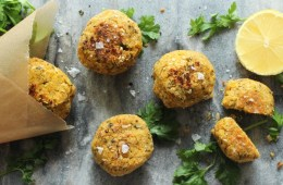 Healthy Awesome Baked Falafel- Golden-brown and crispy on the outside, fluffy melt-in-your-mouth and aromatic within, once you taste falafel it's impossible to live without - Vegetarian recipe by The Petite Cook
