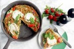 Italian Leftover Spaghetti Frittata - Use leftover cooked spaghetti to make this light veggie loaded spaghetti frittata with fresh healthy ingredients - A great vegetarian option for breakfast, brunch, lunch or dinner! Recipe by The Petite Cook