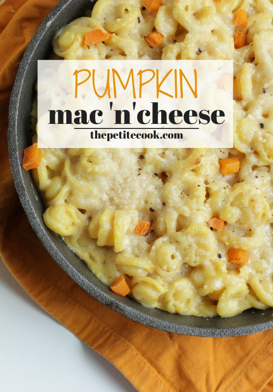 Cheesy and rich, with a delicious pumpkin note- Homemade Pumpkin Mac and cheese is the perfect comfort food to celebrate fall season. Recipe by The Petite Cook