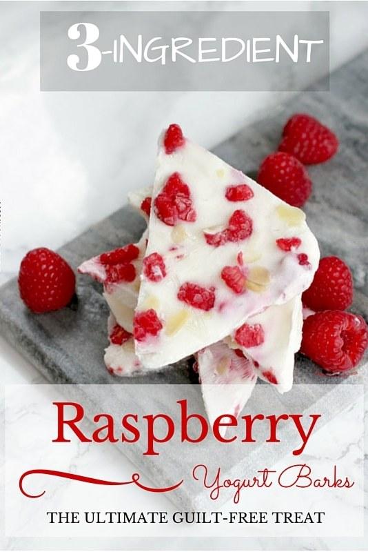 3-Ingredient Raspberry Yogurt Barks - Easy, Healthy and Gluten-free Snack