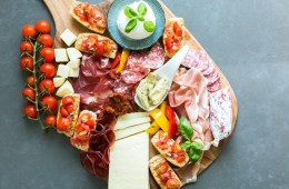 Italian Aperitivo Platter - Planning an al fresco event to entertain your guests this summer? Look no further - It really doesn't get easier (and tastier) than Italian aperitivo, with tasty cheeses, charcuterie, vegetables and fruit. Recipe by The Petite Cook