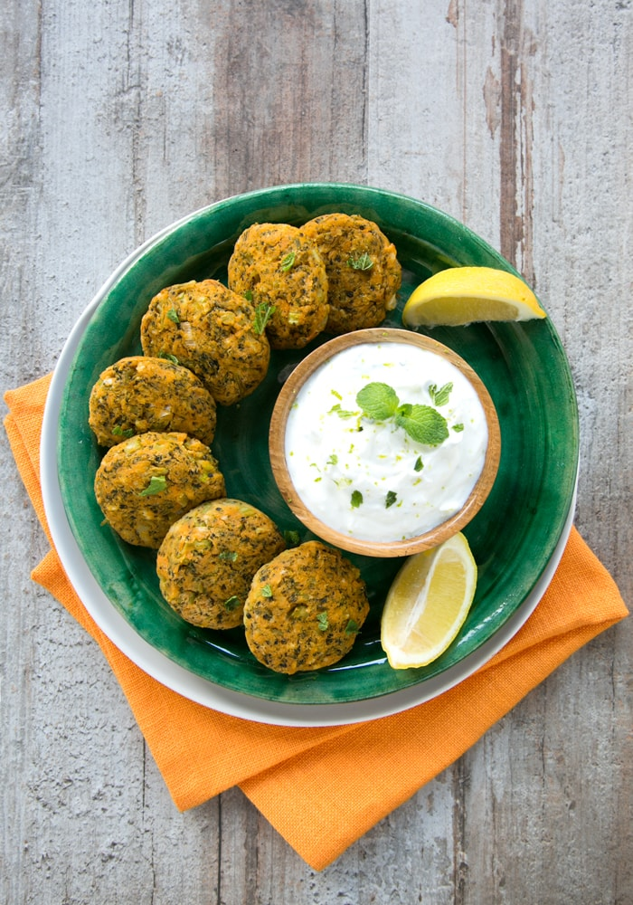 veggie sweet potato fritters on a plate