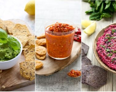 Whether you're looking for the perfect party finger food, or simply craving something tasty to snack on in the afternoon, these quick tortilla chip dips are sure to be a hit! Recipes from The Petite Cook