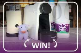 Enter the Giveaway To Win A Nespresso Essenza Mini Coffee Machine & Aeroccino 3 + A Month Supply Of a2 Milk™ - Ends 11th March 2018 T&C's apply.