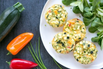 veggie omelet muffins and vegetables