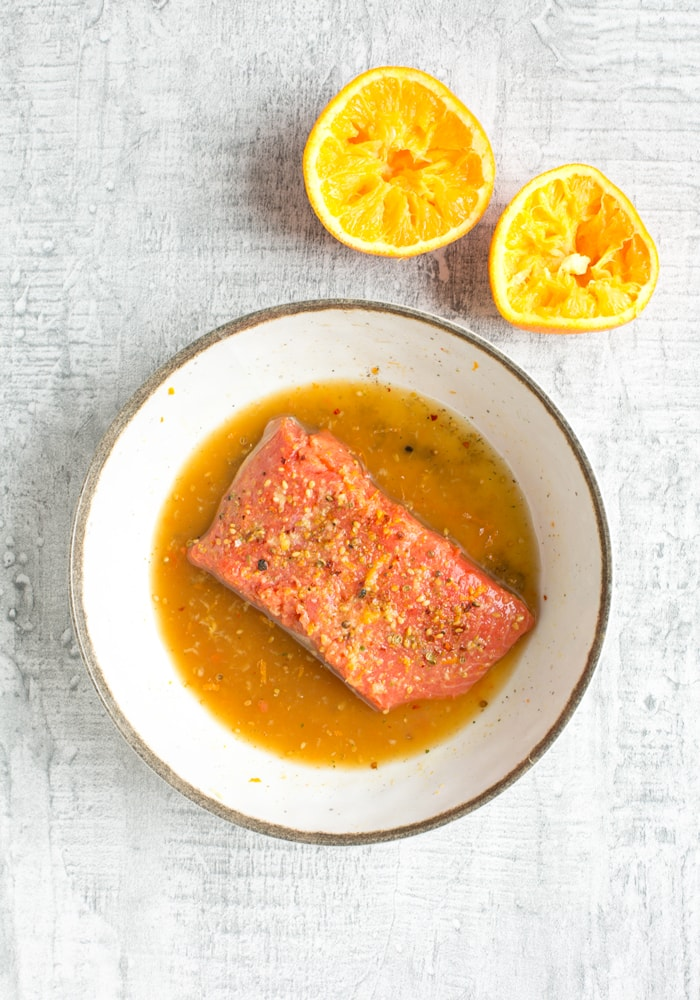 Orange Honey Salmon marinade