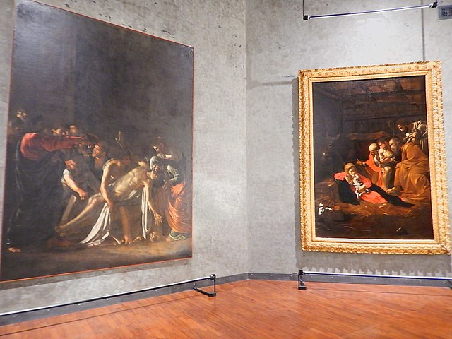 caravaggio paintings inside regional museum of messina