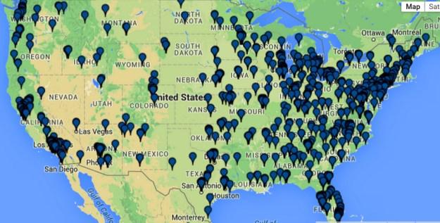 pharmacy residency map