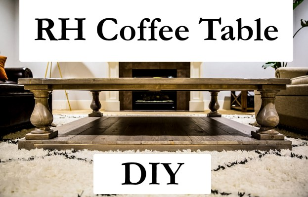 diy restoration hardware balustrade coffee table - the pharmacist blog