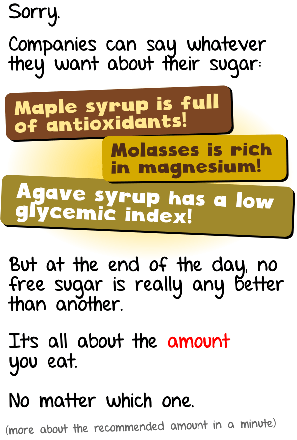 Choose your sugar wisely like agave maple honey