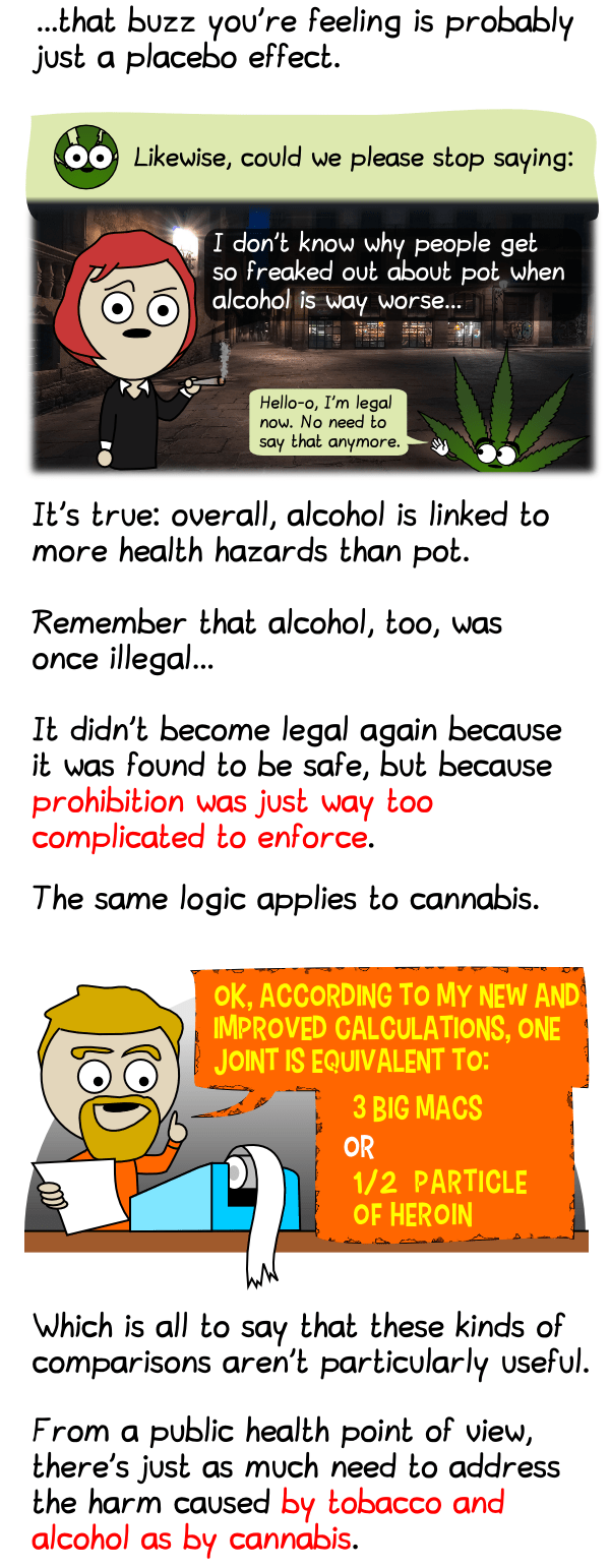 is alcohol worse than pot