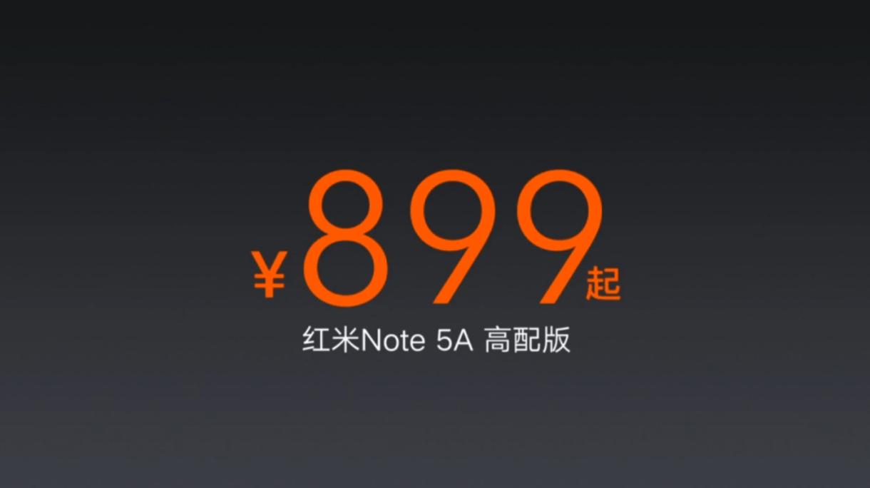 Xiaomi Redmi Note 5A price