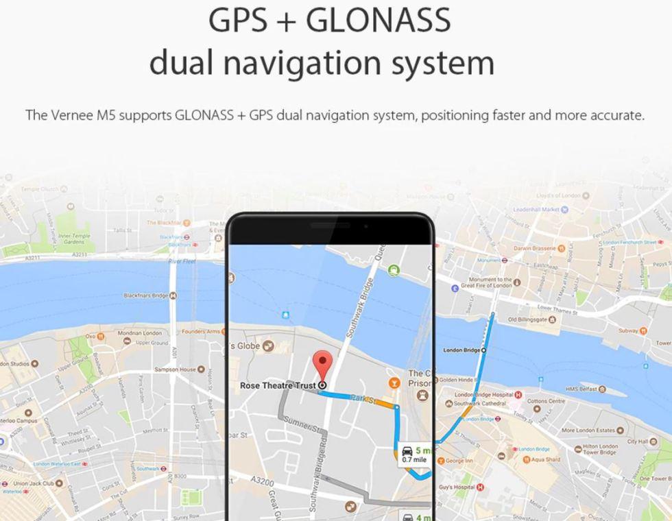 Vernee M5 GPS