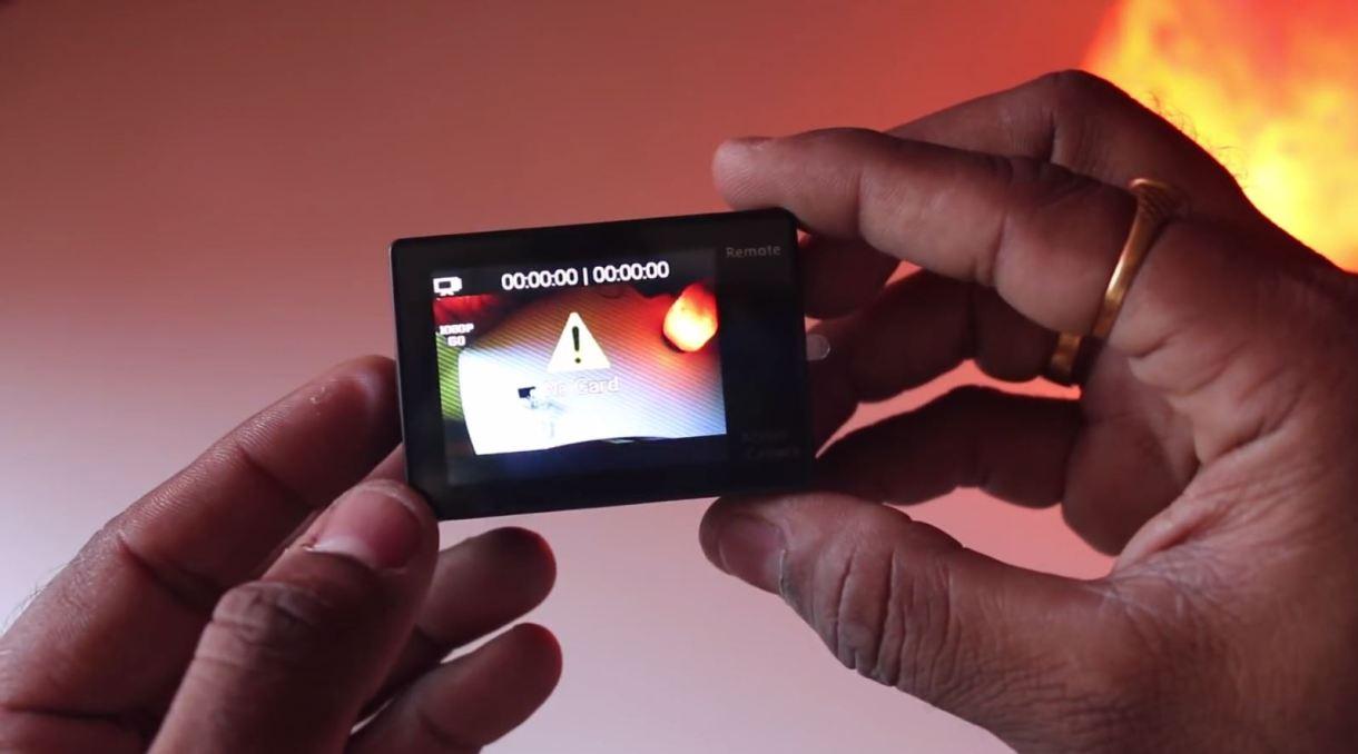 eken h9r 4k action camera - back