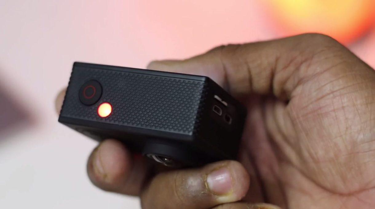 eken h9r 4k action camera - top